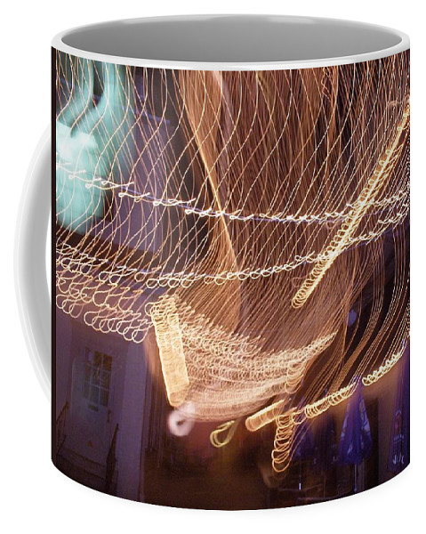 Photograph Coffee Mug featuring the photograph Lights That Dance Together by Thomas Valentine