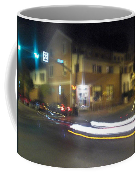 Photograph Coffee Mug featuring the photograph Lights That Race by Thomas Valentine