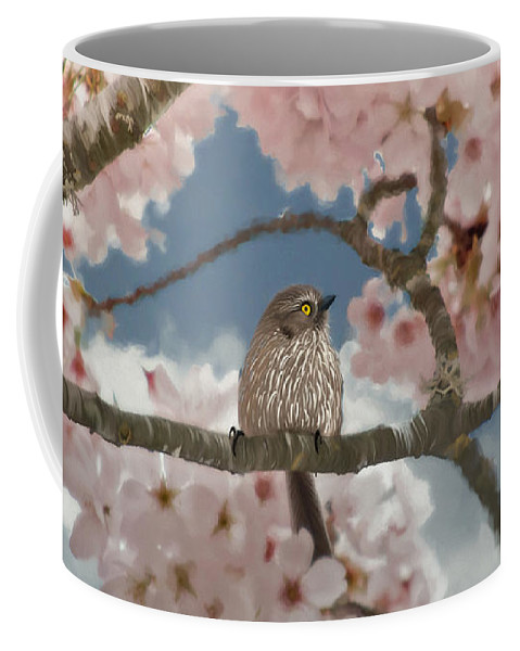Lil Bushtit Coffee Mug featuring the painting Lil Bushtit by Beve Brown-Clark Photography