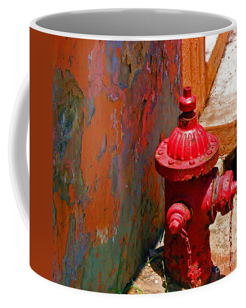 Red Coffee Mug featuring the photograph Lil Red by Debbi Granruth