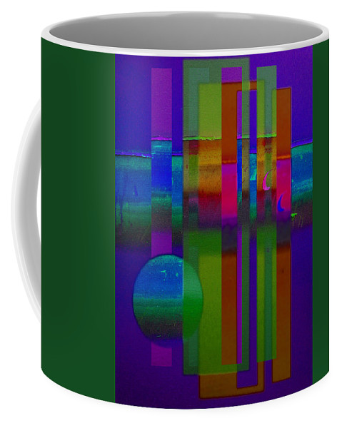 Landscape Coffee Mug featuring the painting Lilac Doors by Charles Stuart
