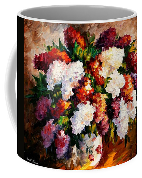 Afremov Coffee Mug featuring the painting Lilac For My Beloved by Leonid Afremov