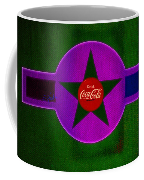 Label Coffee Mug featuring the painting Lilac Labelscape by Charles Stuart