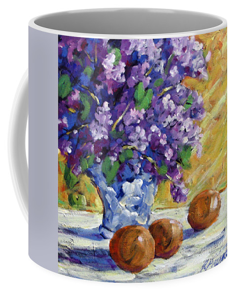 Art Coffee Mug featuring the painting Lilac by Richard T Pranke