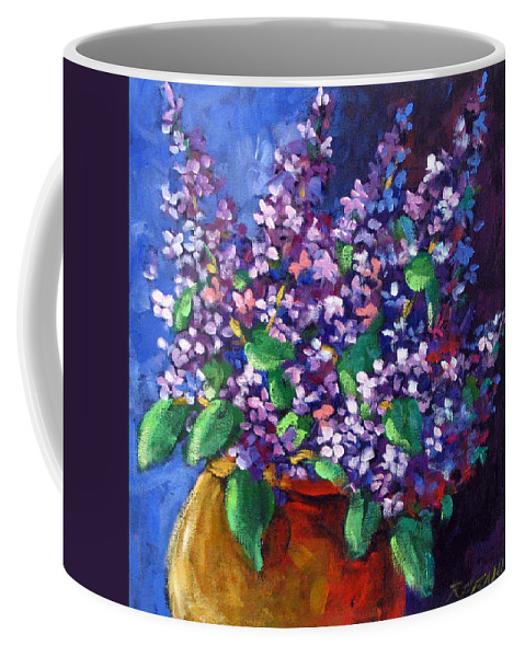 Art Coffee Mug featuring the painting Lilacs by Richard T Pranke
