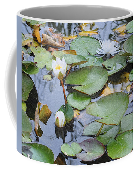 Lilly Pad Coffee Mug featuring the photograph Lilly Hopping by Terry Anderson