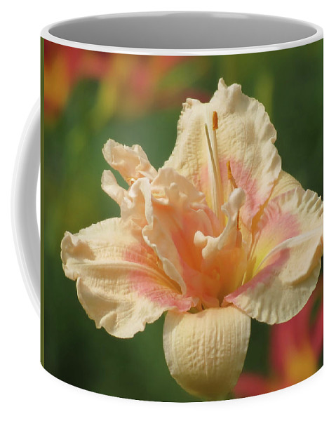 Big Kiss Daylily Coffee Mug featuring the photograph Lily Flower - Daylily by MTBobbins Photography