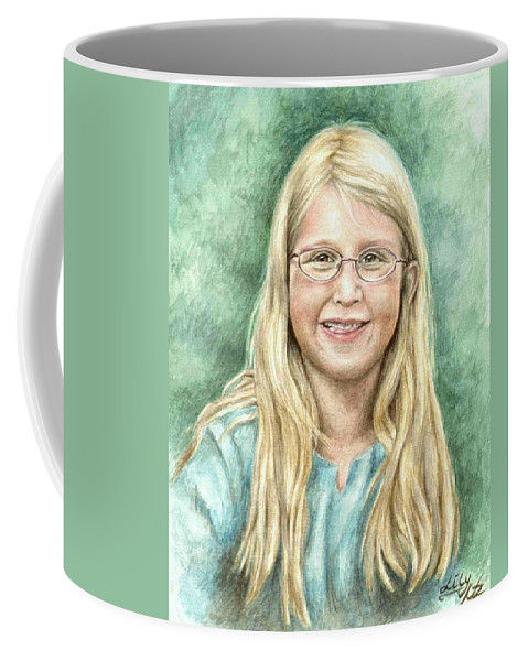 Girl Coffee Mug featuring the painting Lily by Nicole Zeug