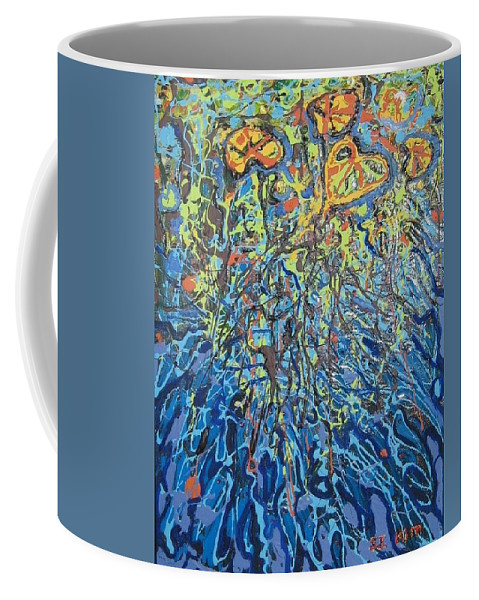 Lily Pads Paintings Coffee Mug featuring the painting Lily Pads Water Lily Paintings by Seon-Jeong Kim