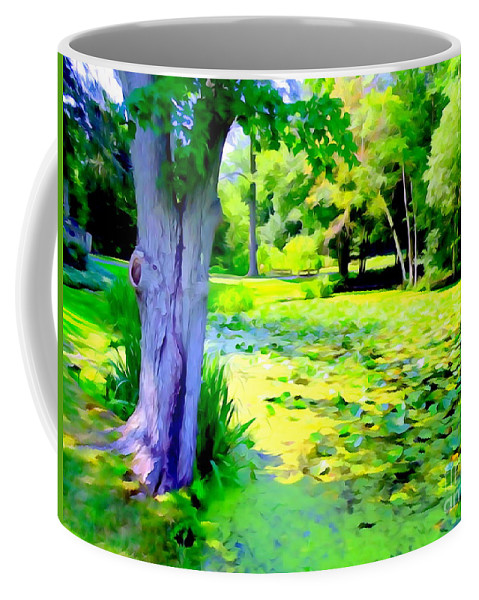 Digital Coffee Mug featuring the photograph Lily Pond #5 by Ed Weidman