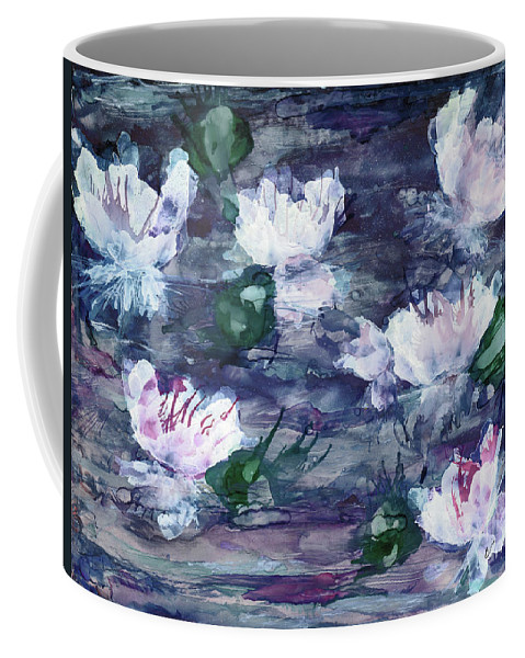 Lilies Coffee Mug featuring the painting Lily Pond by Eunice Warfel