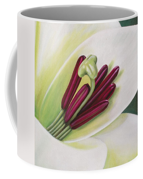 Flower Coffee Mug featuring the painting Lily by Rob De Vries