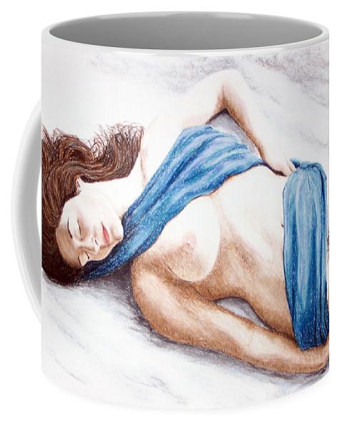 Joe Ogle Coffee Mug featuring the painting Lily-When Angels Sleep by Joseph Ogle