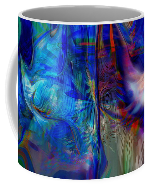 Abstract Coffee Mug featuring the digital art Limelight by Linda Sannuti