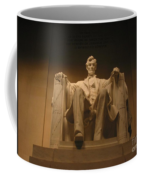 Abraham Lincoln Coffee Mug featuring the photograph Lincoln Memorial by Brian McDunn