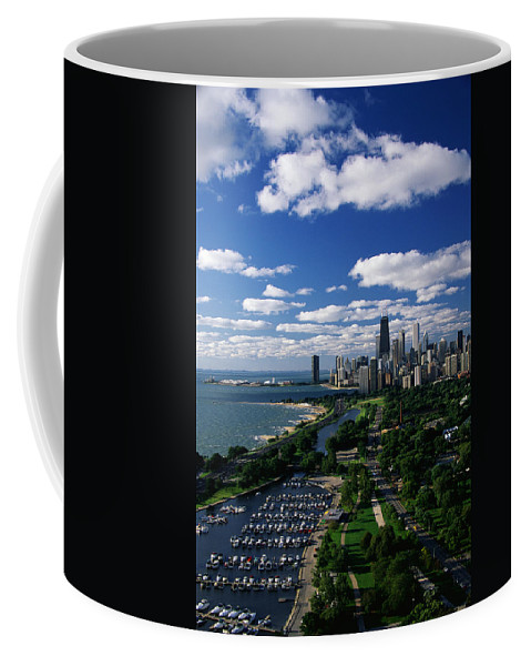 Photography Coffee Mug featuring the photograph Lincoln Park And Diversey Harbor by Panoramic Images