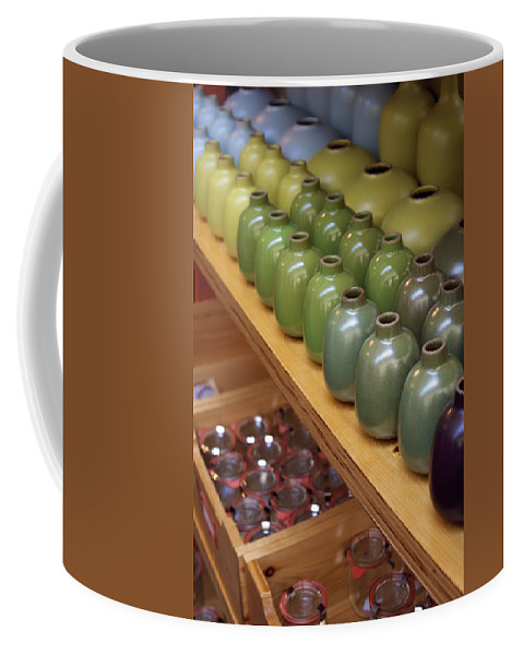 Colorful Handmade Ceramics Coffee Mug featuring the photograph The Marketplace Color by Alanna DPhoto