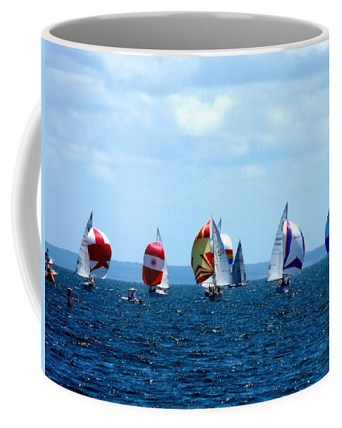 Landscape Coffee Mug featuring the photograph Line Up by Kendall Eutemey
