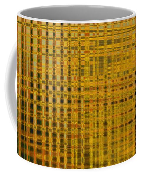 Coffee Mug featuring the digital art Linear Ripples 278 by Tim Sladek