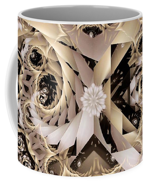 Abstract Coffee Mug featuring the digital art Linen and Silk by Ron Bissett