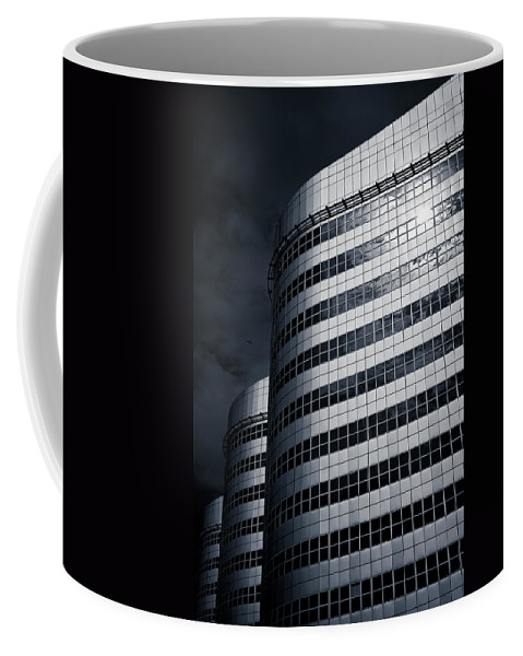 Architecture Coffee Mug featuring the photograph Lines And Curves by Dave Bowman
