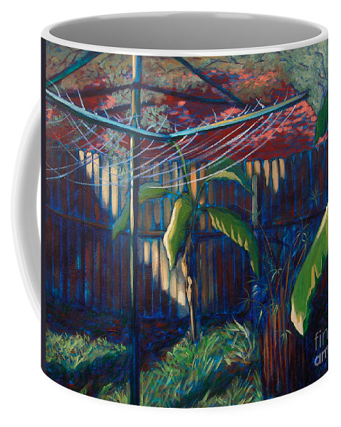 Art Coffee Mug featuring the painting Lines And Light by Julianne Felton