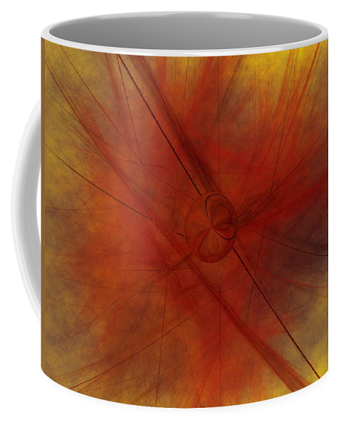 Art Coffee Mug featuring the digital art Lines Are Drawn by Jeff Iverson