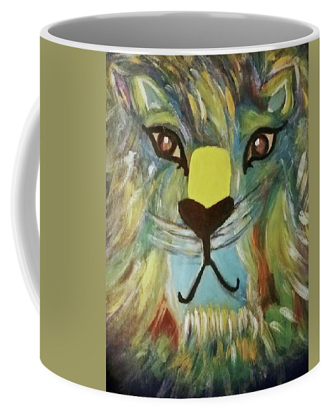 Coffee Mug featuring the painting Lion 2 by Kaleidoscope Arts