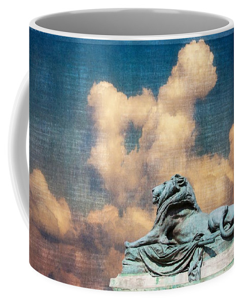 Washington Dc Coffee Mug featuring the photograph Lion In The Clouds by Alice Gipson