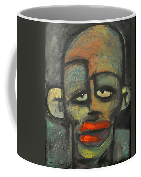 Lipstick Coffee Mug featuring the painting Lipstick by Tim Nyberg