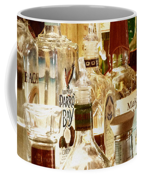 Liquor Bottles Coffee Mug featuring the photograph Liquor Bottles by Methune Hively