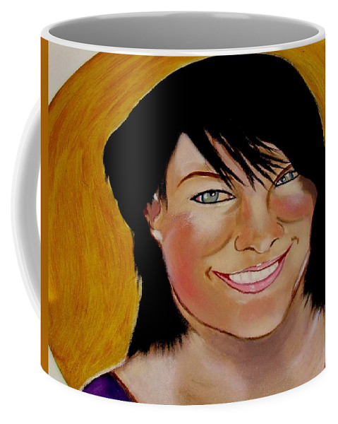 Mother Coffee Mug featuring the painting Lisa Hill Supermum by Rusty Gladdish