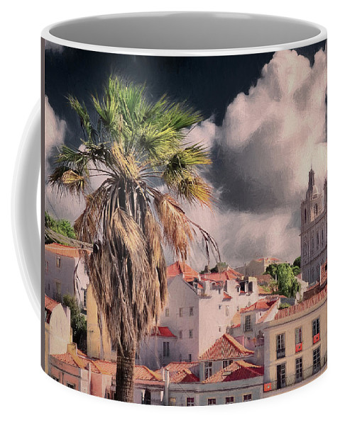 Portugal Coffee Mug featuring the photograph Lisbon Cityscape 4 by Claude LeTien