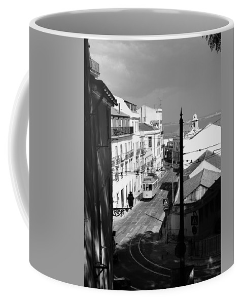 Trolley Coffee Mug featuring the photograph Lisbon Trolley 17b by Andrew Fare