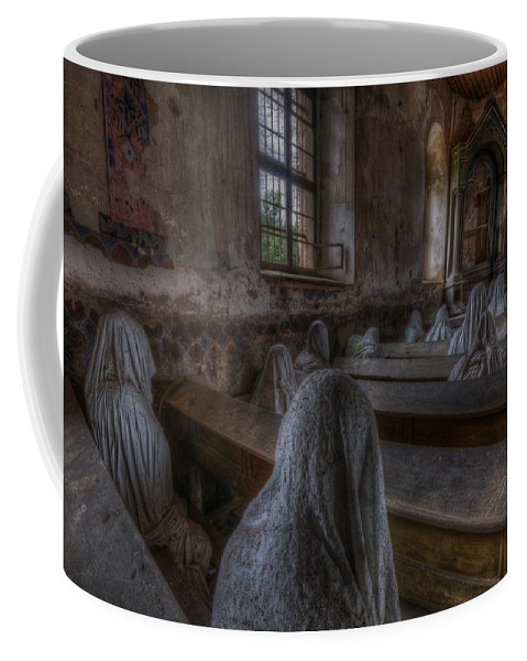 Ghostly Coffee Mug featuring the digital art Listen by Nathan Wright