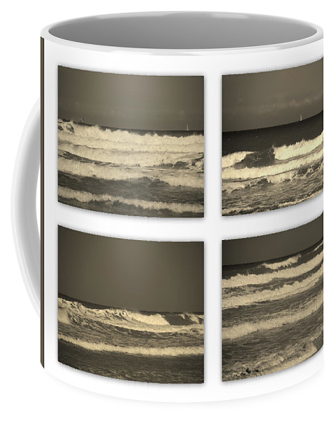 Waves Coffee Mug featuring the photograph Listen To The Song Of The Ocean by Susanne Van Hulst