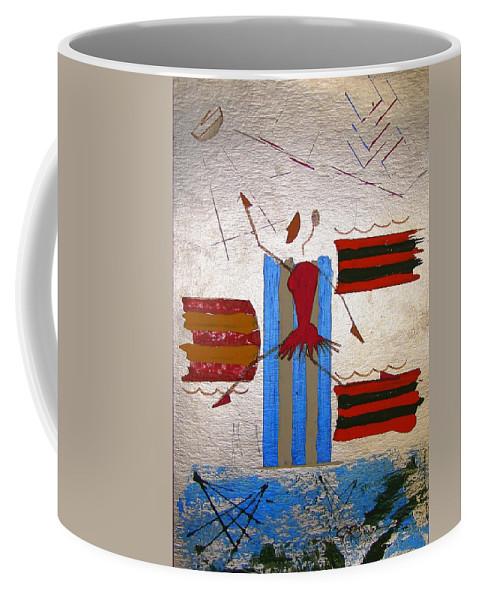 Ballerina Coffee Mug featuring the mixed media Little Ballerina by J R Seymour