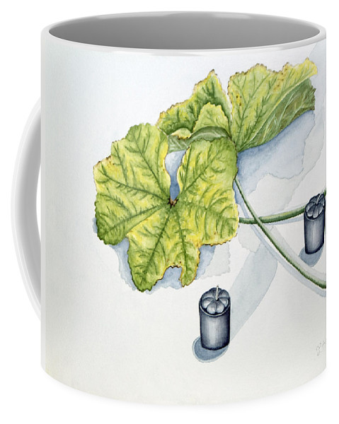 Candles Coffee Mug featuring the painting Little Black Candles by Judy Henninger