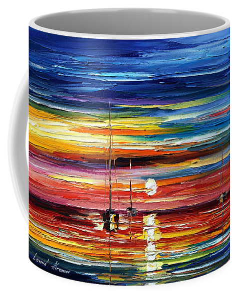 Boat Coffee Mug featuring the painting Little Boat by Leonid Afremov