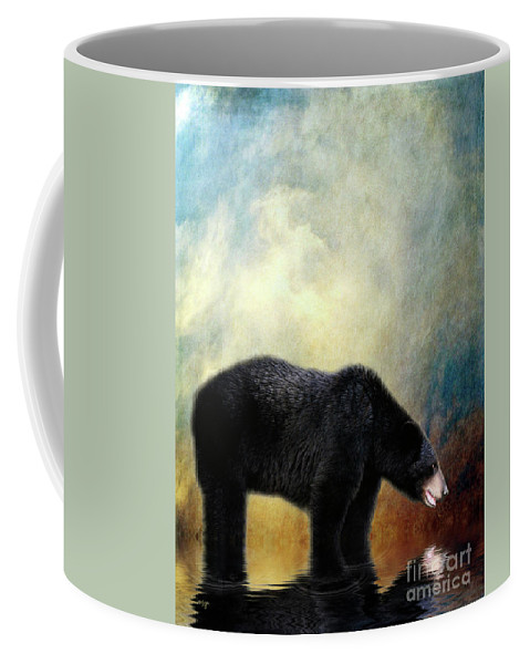 Bear Coffee Mug featuring the photograph Little Boy Lost by Lois Bryan