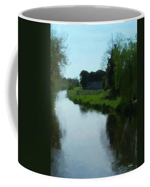 Little Brosna River Coffee Mug featuring the painting Little Brosna River Riverstown Ireland by Teresa Mucha