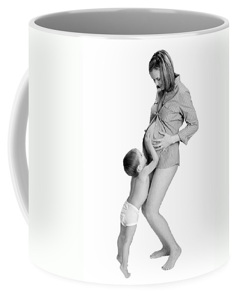 Maternity Coffee Mug featuring the photograph Little Brother by Herman Robert