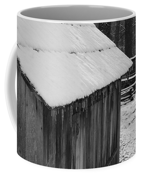 Landscape Coffee Mug featuring the photograph Little Brown Shed by Eric Liller