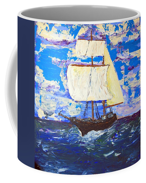 Impressionist Painting Coffee Mug featuring the painting Little Clipper by J R Seymour