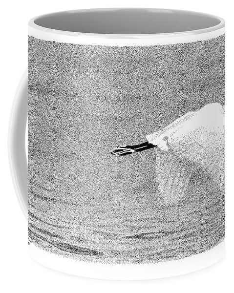 Little Egret Coffee Mug featuring the drawing Little Egret by Scott Woyak