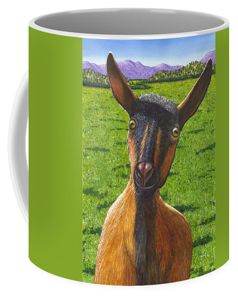 Goat Coffee Mug featuring the painting Little Goat by Catherine G McElroy