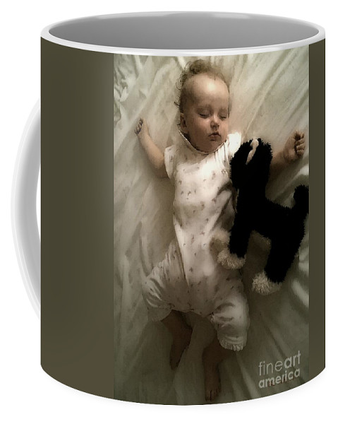 Baby Coffee Mug featuring the painting Little Goldenhair by RC DeWinter