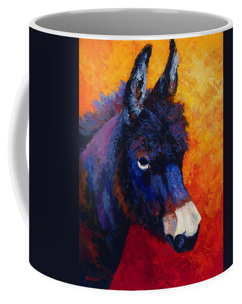 Burro Coffee Mug featuring the painting Little Jack - Burro by Marion Rose