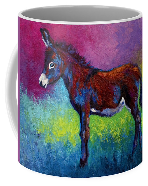 Burro Coffee Mug featuring the painting Little Jenny by Marion Rose