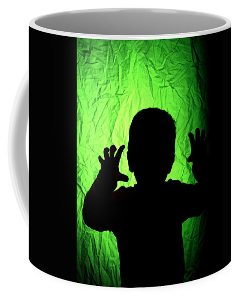 Green Coffee Mug featuring the photograph Little Monster by Rick Monyahan